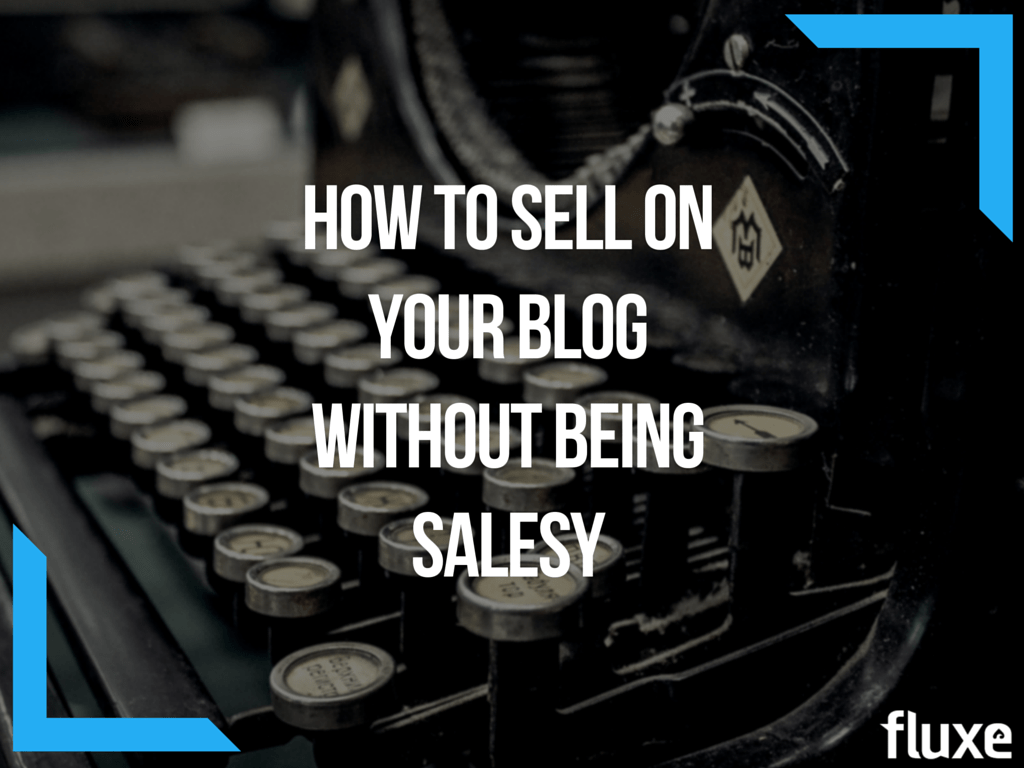 sell on your blog