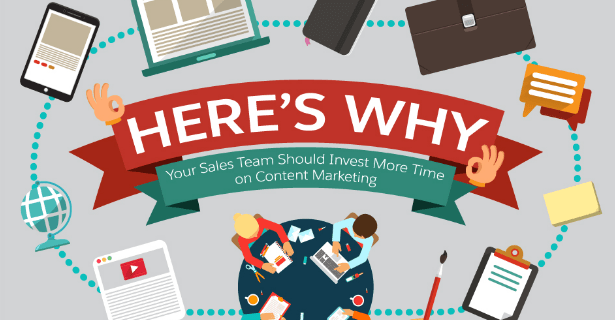 Here's Why It Pays To Get Your Sales Team More Involved In Content Marketing