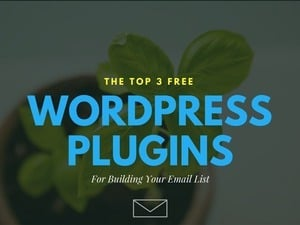 The Top 3 Free WordPress Plugins For Building Your Email List