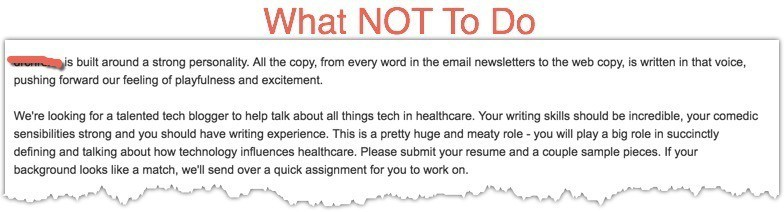 what not to do when hiring a blogger