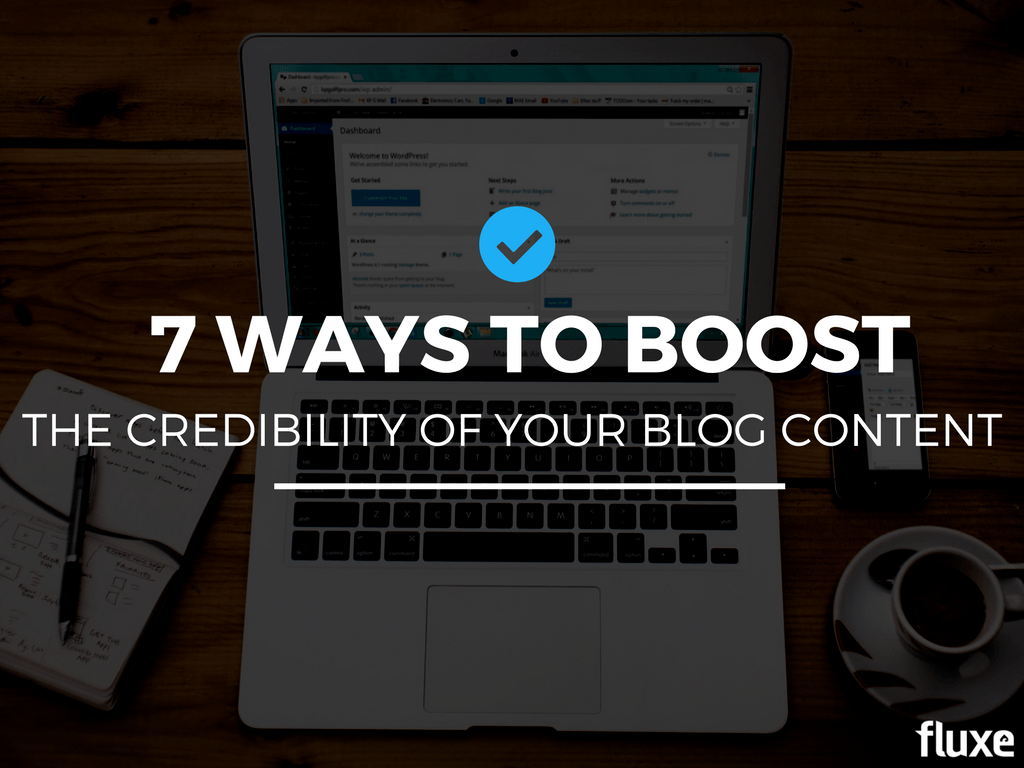 boost credibility blog content